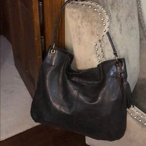 Banana Republic Black Leather Shoulder Bag